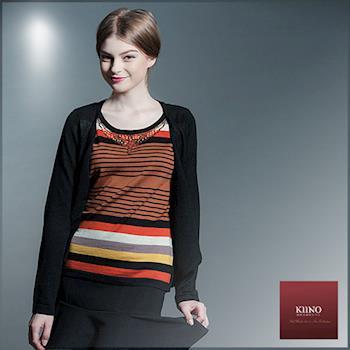 【KIINO】精緻手做假兩件針織衫套裝(3852-1952)