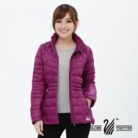 【遊遍天下】女款JIS90%羽絨防風防潑水極暖羽絨外套G0322(紫紅)