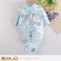 魔法Baby 包腳連身衣 法國設計細絲絨包屁衣~k60408
