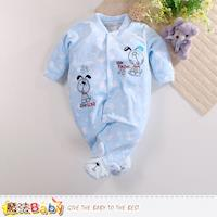 魔法Baby 包腳連身衣 法國設計細絲絨包屁衣~k60406