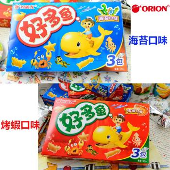 【好麗友】好多魚餅乾海苔/烤蝦口味(90gX18盒/組)