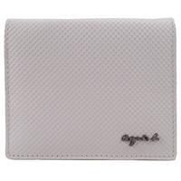 agnes b.立體凸紋防刮折式零錢夾(灰)