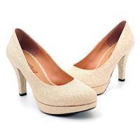 【 cher美鞋】MIT亮眼金蔥仙履奇緣高跟氣質美鞋-婚宴派對必備款-金蔥-063095262-04