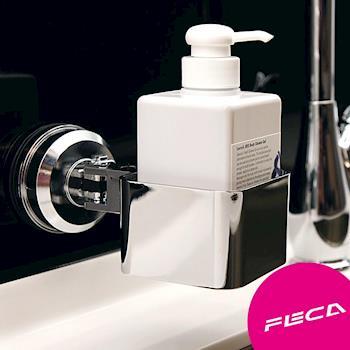 FECA非卡 無痕強力吸盤 方型置物架(銀)