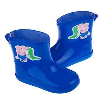 粉紅豬小妹喬治豬藍色附鞋墊迷你兒童雨鞋(14~17公分) [ A7I539B ] 藍色款