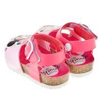Disney迪士尼米妮桃色護趾歐風兒童氣墊涼鞋(13~18公分) [ D7R253H ] 桃色款