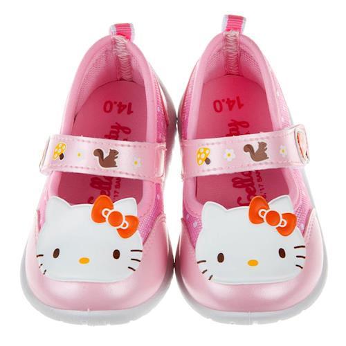 HelloKItty凱蒂貓森林童趣粉色兒童休閒鞋室內鞋(13~18公分) [ C7O447G ] 粉色款