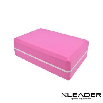 Leader X  環保EVA高密度雙色夾心瑜珈磚 粉色
