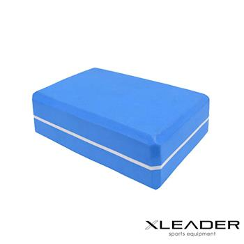 Leader X  環保EVA高密度雙色夾心瑜珈磚 藍色