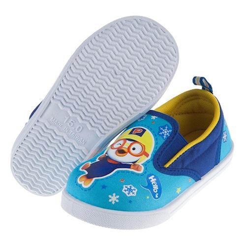 Pororo淘氣小企鵝兒童休閒鞋室內鞋(15~19公分) [ B7K006B ] 藍色款