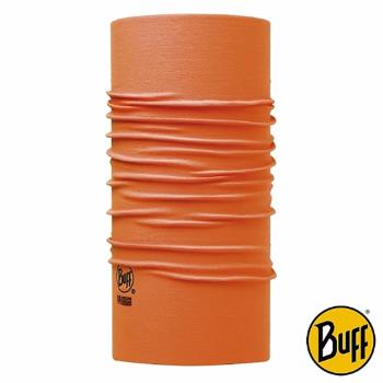 BUFF 螢橘素面 COOLMAX抗UV頭巾