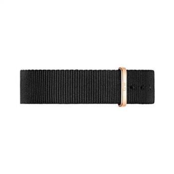 DW Daniel Wellington / DW00200137 / 原廠玫瑰金扣尼龍錶帶-黑色/18mm