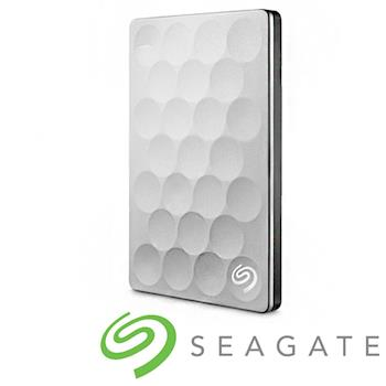 Seagate Backup Plus Ultra Slim 2.5吋外接硬碟 1TB 白金色