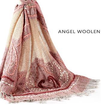 Angel Woolen 雅致工藝 印度手工100%羊毛披肩 圍巾