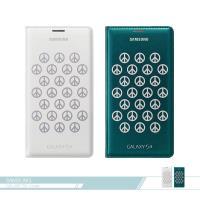 Samsung三星 原廠Galaxy S5 G900專用 時尚皮套-和平標誌 插卡翻頁 書本式保護套 (台灣公司貨)