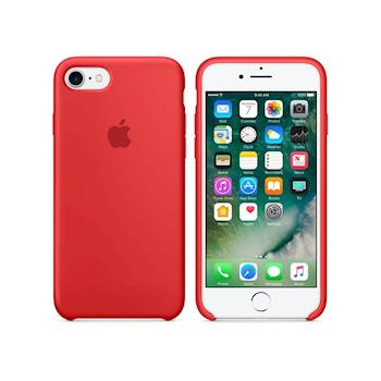 Apple 原廠 iPhone 8/7 case 適用 矽膠保護殼 (紅色-盒裝)
