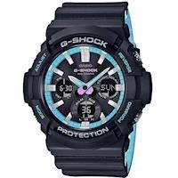 【CASIO】G-SHOCK 紳士街頭霓虹潮流風格設計休閒錶- (GAS-100PC-1A)