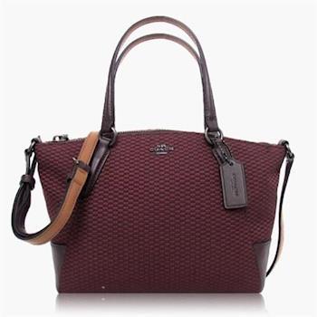 COACH 多種背法 織布 / 手提 / 斜背兩用包(迷你款) 紫紅