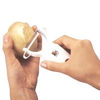 日本LEC不鏽鋼活動刀刃蔬果削皮器2入裝