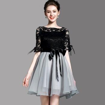 (現貨+預購 RN-girls)-【OL72027】精品泡泡紗蝴蝶結蕾絲公主裙洋裝小禮服