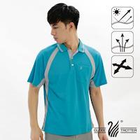 【遊遍天下】MIT男款吸濕排汗抗UV機能POLO衫S019(水綠)