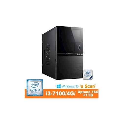 Genuine 捷元 GP888 Optane-8Q i3-7100雙核 Win10Pro 桌上型電腦