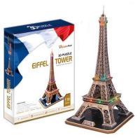 《Cubic Fun》3D立體建築拼圖-精裝-艾菲爾鐵塔
