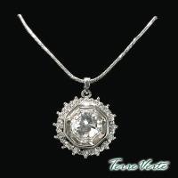 蒂菲雅Terre Verte  施華洛世奇晶飾璀璨寶石項鍊 -CN-2366