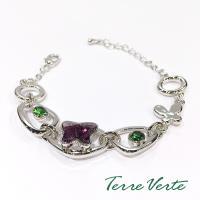 蒂菲雅Terre Verte  施華洛世奇晶飾時尚手鍊-紫蝶 - CH-2242