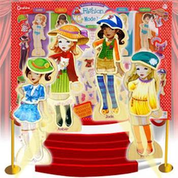 【funKids】女孩變裝秀磁性益智玩具63PCS送小車收納盒(Super Model)