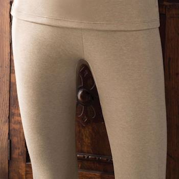 【華歌爾】NEW EKS升級發熱 M-LL 九分保暖褲(知性褐)-保暖-舒適-居家-日本發熱紗