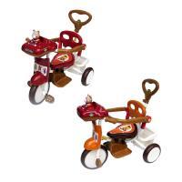 【MIT台灣童車】快樂熊三輪車 (紅)(橘) 506P1
