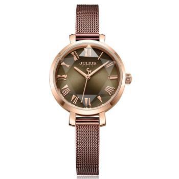 JULIUS聚利時 米蘭風尚立體切割鏡面腕錶-(五色/26mm)