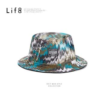 Life8-Outer 山水紋 雙面登山帽 -05289