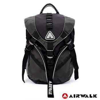【美國 AIRWALK】躍動焦點三叉扣後背包-深灰
