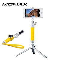 香港MOMAX 藍牙皮革 棒 50cm  三腳架  銀色