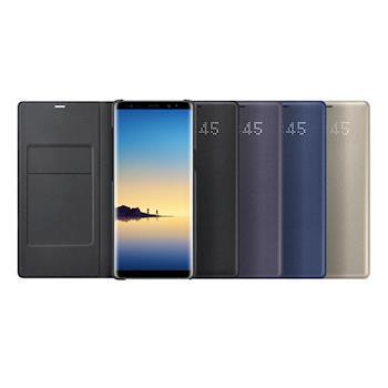 SAMSUNG Galaxy Note8 LED 原廠皮革翻頁式皮套(盒裝)
