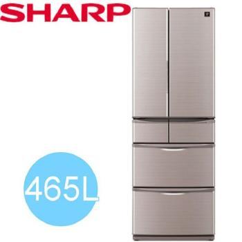 SHARP台灣夏普465L六門變頻冰箱SJ-XF47BT-T