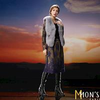 MONS名媛立體蕾絲完美長裙