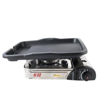 韓國DUK HUNG新款長型不沾烤盤/韓國滴油烤盤DH28+K-ONE卡旺-遠紅外線瓦斯爐K1-A013SC
