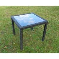 戶外傢俱BROTHER 80cm鋁合金膠藤方桌~桌腳桌邊膠藤包覆~兄弟牌鋁製骨架堅固耐用!