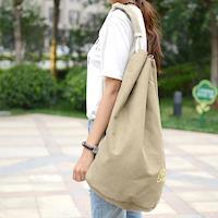 【Acorn*橡果】韓版休閒大容量帆布後背包6560(米色)