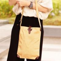 【Acorn*橡果】韓版極簡時尚帆布斜背包6556(黃卡其)