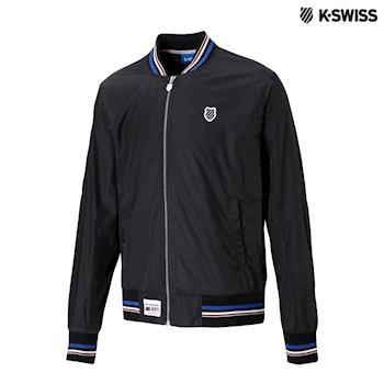 K-Swiss Silky Jacket棒球外套-男-黑