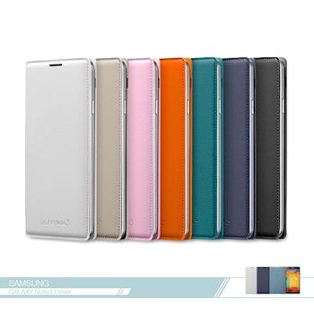 Samsung三星 原廠Galaxy Note3專用 皮革翻頁式皮套 可插卡 /側翻書本式保護套