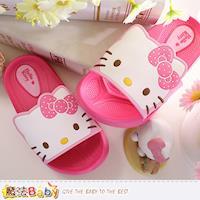 魔法Baby 女童拖鞋 Hello Kitty正版拖鞋~sk0224