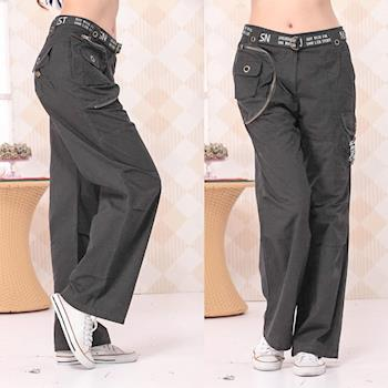 【ARH】街頭潮流寬版休閒褲(黑)