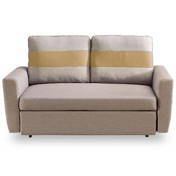 【時尚屋】莫妮卡布沙發床雙人座淺咖色MT7-340-3免組裝/免運費/沙發