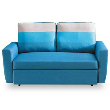 【時尚屋】莫妮卡布沙發床雙人座藍色MT7-340-1免組裝/免運費/沙發