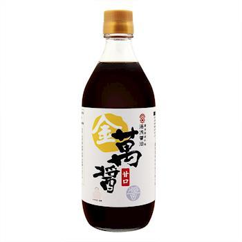 湯淺醬油 金萬醬-甘口500ml x5入